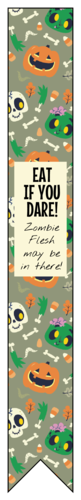 Halloween Test Tube Favors pre-designed label template for OL1758