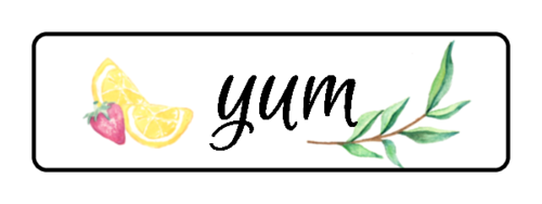 """Yum"" Ultimate Lemonade Stand Labels (Round Corner Rectangle)"