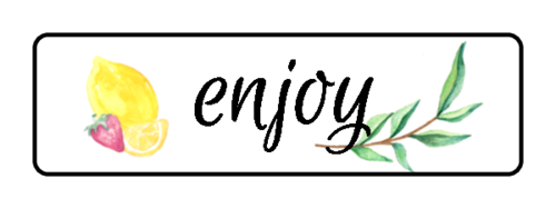 "OL25 - 1.75"" x 0.5"" - ""Enjoy"" Ultimate Lemonade Stand Labels"