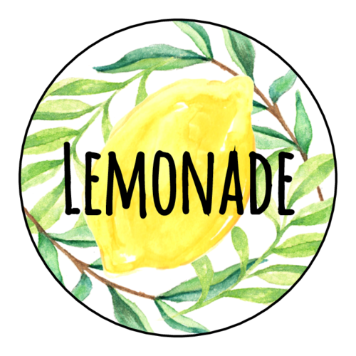 """Lemonade"" Ultimate Lemonade Stand Labels (Circle)"