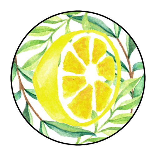 Lemons surrounded by greenery for kid lemonade stands