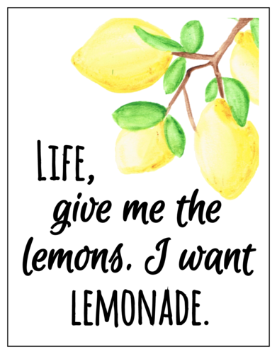 """Lemonade"" lemonade stand cup labels"