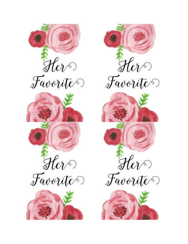 "OL893 - 3.25"" x 4.25"" Oval - Her Favorite Snack Bag Labels"