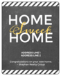 """Home Sweet Home"" Closing Gift Wine Bottle Labels"