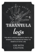 """Tarantula Legs"" Decorative Halloween Apothecary Labels"