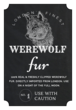 """Werewolf Fur"" Decorative Halloween Apothecary Labels"