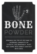 """Bone Powder"" Decorative Halloween Apothecary Labels"