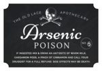"""Arsenic Poison"" Decorative Halloween Apothecary Labels"