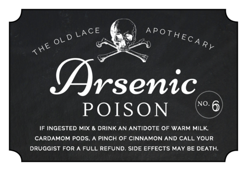 "OL1028 - 3"" x 2"" - ""Arsenic Poison"" Decorative Halloween Apothecary Labels"