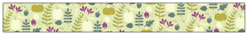 "OL2530 - 1.25"" x 10.125"" - Decorative Thanksgiving Leftover Seal Band Labels"