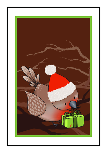 Winter Wonderland Bird Write-In Gift Tag Labels pre-designed label template for OL1347