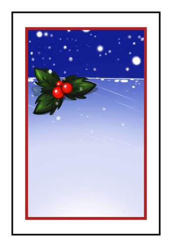 Winter Wonderland Holly Write-In Gift Tag Labels (Square Corner Rectangle)