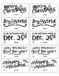 Assorted Christmas Quotes Gift Tag Labels