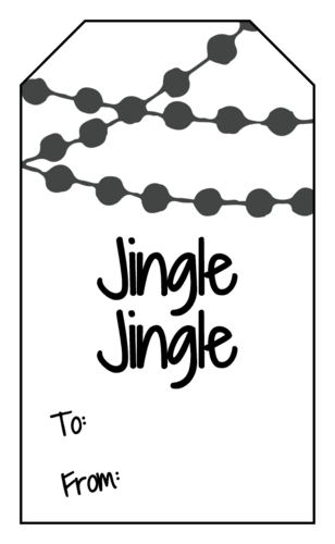 Jingle jingle gift tag template for Christmas