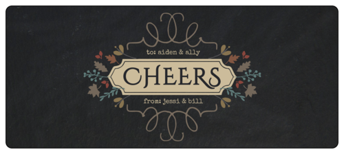 """Cheers!"" Fall Food Gift Wrap-Around Labels (Round Corner Rectangle)"