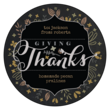 """Giving Thanks!"" Fall Food Gift Circle Labels"