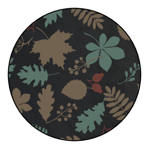 Decorative Jar Lid Fall Food Gift Circle Labels (Circle)