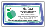 Apple Teacher Contact Magnets
