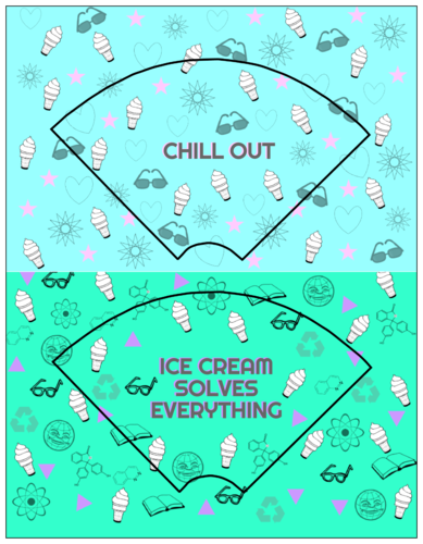 Printable ice cream cone cardstock wrapper template for kids