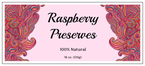 "OL351 - 8"" x 3.5"" - Spiral Homemade Preserves Labels"