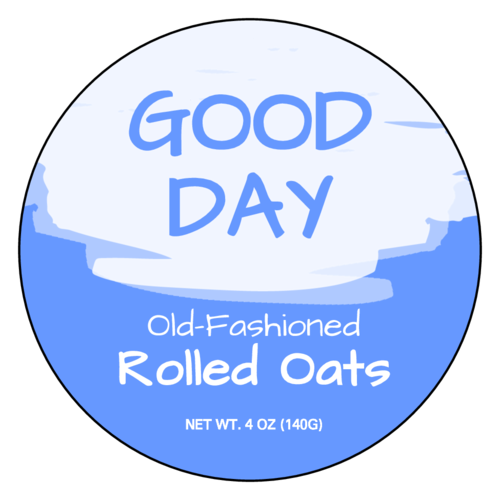"OL2279 - 3"" Circle - Rolled Oats Circle Labels"