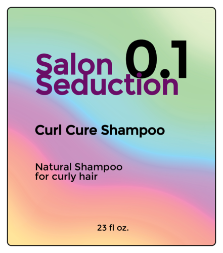 "OL3846 - 3.5"" x 4"" - Holographic Shampoo Bottle Labels"