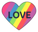 "Pride ""Love"" Heart Label"