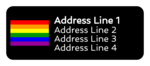 Pride Flag Address Label