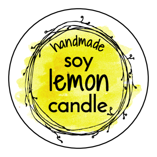 DIY Lemon Scented Soy Candle Labels (Circle)