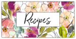 Floral Recipe Book Labels