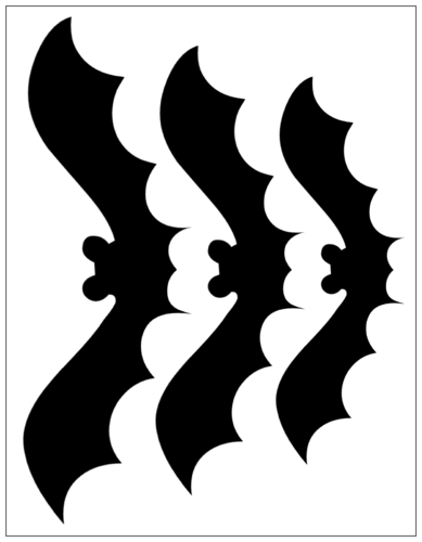 "OL175 - 8.5"" x 11"" - Halloween Bat Cut Out Stickers"