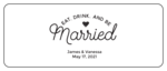 """Eat, Drink, and Be Married"" Mini Wine Wedding Favor Labels"