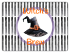 """Witch's Brew"" Festive Halloween Bottle Labels"