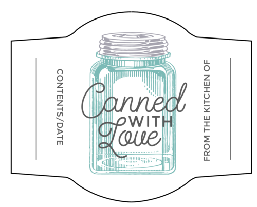 "OL2933 - 3.5541"" x 2.8166"" - ""Canned With Love"" Jar Labels"