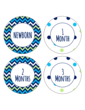 Baby Growth Circle Labels