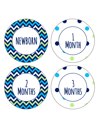 "OL2362 - 3.75"" Circle - Baby Growth Circle Labels"