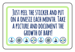 Printable Baby Growth Sticker Envelope Labels
