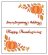 """Happy Thanksgiving"" Festive Table Tent Cards"