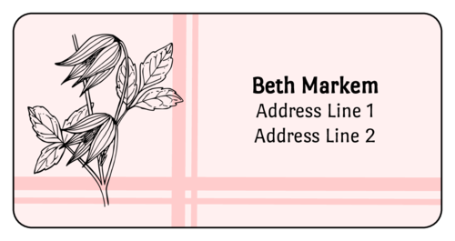"OL125 - 4"" x 2"" - Flower Address Labels"