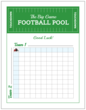 """The Big Game Football Pool"" Party Game Poster"