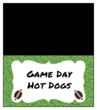 American Football Game Day Food Tent Card