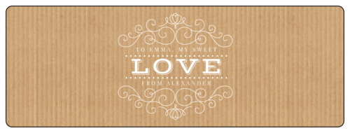 """Love"" Kraft Style Valentine's Day Champagne Bottle Labels (Round Corner Rectangle)"