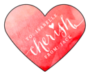 """Cherish"" Valentine's Day Heart Labels"