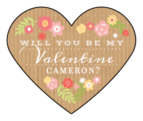 "OL196 - 2.2754"" x 1.8872"" - ""Will you be my Valentine?"" Valentine's Day Heart Labels"