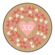 """XO"" Valentine's Day Circle Labels"