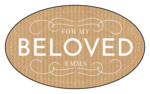 """For My Beloved"" Valentine's Day Oval Labels"