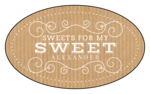 """Sweets for My Sweet"" Valentine's Day Oval Labels"
