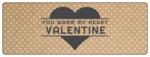 """You Warm My Heart Valentine"" Valentine's Day Wrap-Around Labels"