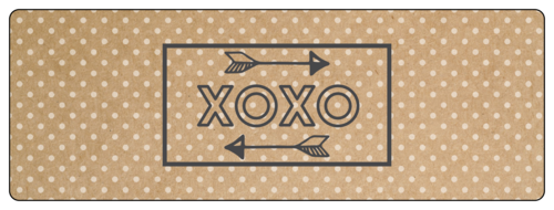 "OL6200 - 7"" x 2.5"" - ""XOXO"" Valentine's Day Wrap-Around Labels"