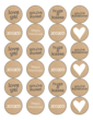 Kraft-Style Valentine's Day Circles Labels for Your Sweet Treats